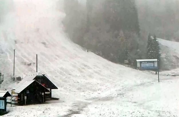 First snow in Kranjska Gora