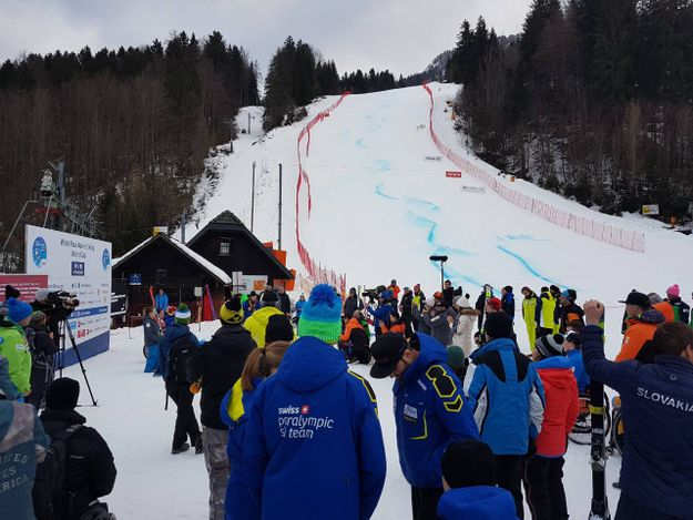 World Para Alpine Ski Cup on the FIS race track in Kranjska Gora