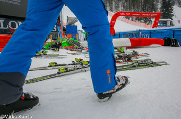 Slovenian Skiers at the Vitranc Cup