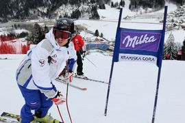 Priprave na petkov veleslalom / Preparations for friday GS