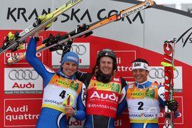Veleslalom, podelitev nagrad / Giant Slalom, prize giving ceremony