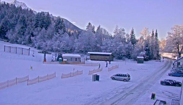 Prvi sneg v dveh mrzlih mesecih