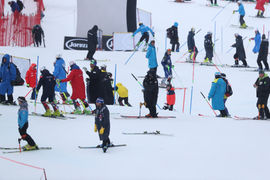 Ogled slaloma / Slalom after 1st run