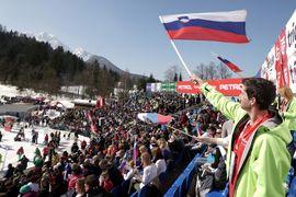 Veleslalom cilj in podelitev / Giant slalom finish