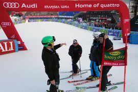 Veleslalom 1.tek / Giant slalom 1st run