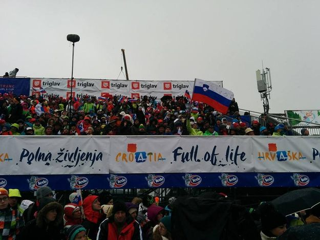 Slovenian President  Pahor Among the Spectators