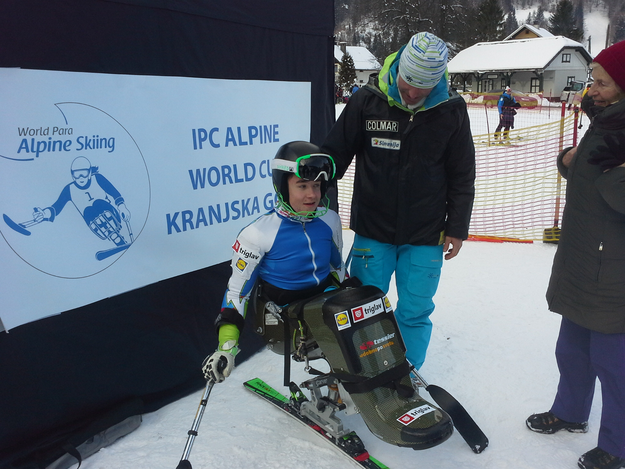 Disabled skiers' world cup again in Kranjska Gora