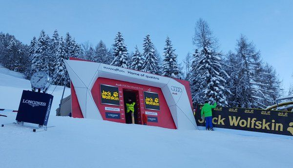The start of the giant slalom has been moved a bit lower