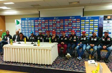 Presentation of Slovenian skiers